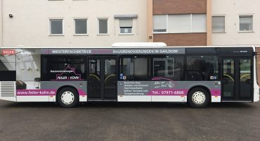 Sven Kohn Holzbau GmbH - Gaildorf - Holzbau - Zimmererarbeiten - Buswerbung