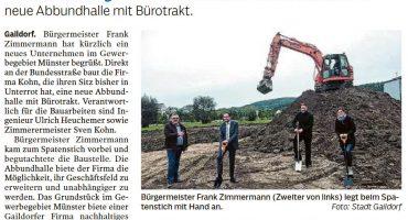 Sven Kohn Holzbau GmbH - Gaildorf - Holzbau - Zimmererarbeiten - Umzug